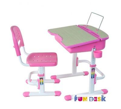 Capri (розовая) детская парта и регулируемый стульчик FunDesk