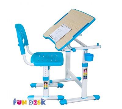 Piccolino 2 синий -детская парта и стул FunDesk