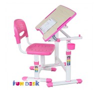 Piccolino 2 розовый -детская парта и стул FunDesk