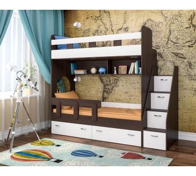 Двухъярусная кровать Юниор-1 бодего/белый