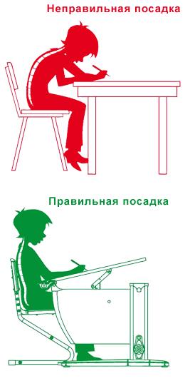 Как правильно сидеть за письменным столом ДЭМИ