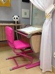 Парта для школьника ДЭМИ серия СУТ 14-01 клен розовый со стулом