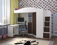 Кровать чердак с рабочей зоной Юниор -4 фабрики Ярофф