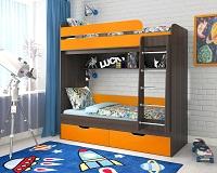 Двухъярусная кровать с металлической лестницей фабрики Ярофф