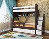 Двухъярусная кровать для подростков Юниор-1 Бодего/Белый